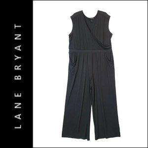 Lane Bryant Women Sleeveless Jumpsuit Black 26/28